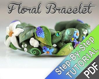 Summer Braid Tutorial - PDF tutorial - summer boho nature inspired cute fairy bracelet bangle earthy floral