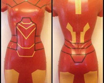 Iron Man Inspired Rubber Latex Dress Cosplay