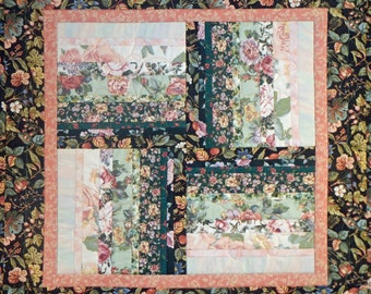Floral Quilted Table Mat, 4805-0, Floral wall hanging