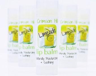 Limeade Natural Lip Balm - handmade, organic, gloss, lip butter, flavor, shea butter, cocoa butter, beeswax, kids, teen