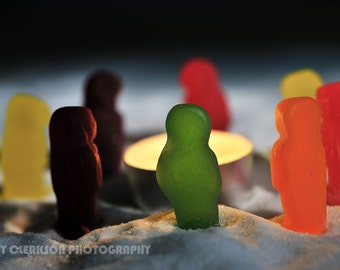Jelly Babies On Strike: Fine art photography print. Wall art. Wall decor. Contemporary art.