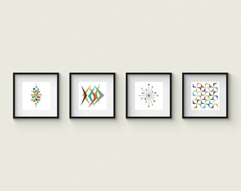 Collection of (4) Giclee Prints - Mid Century Modern
