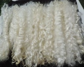 "Long Long White Mohair Superior Quality Separated  9 To 10 Inches Some 11"" Very Rare 1/2 Ounce Santas/Doll Hair/Blythe/Wig Hair Felt/Spin"
