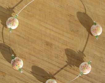 Float - spring garden lampwork bead necklace