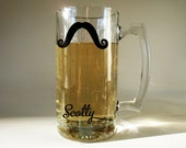 Personalized Moustache Beer Mug