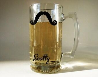 Personalized Moustache Beer Mug