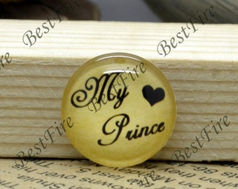 10mm,12mm,14mm,16mm,18mm,20mm,25mm,30mm Round My Prince Photo Glass Cabochons,glass finding beads,Photo Glass Cabochons