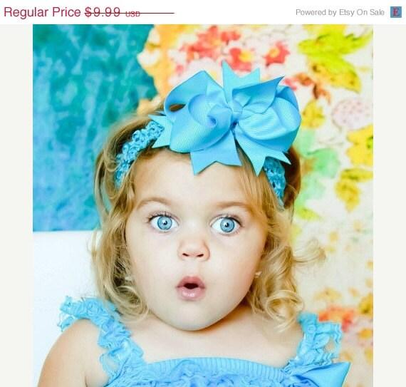 60% Fund Raising Sale - Baby Headband - Toddler Headband - Shabby Headband - Large Bow Headband