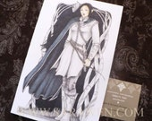 SILVER ELF Greeting Card / Lord of the Rings / Female Elf Archer / Fantasy Art Greeting Card