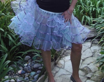 1950 Petticoat Lavender Blue Sexy Fun Dance Party Skirt