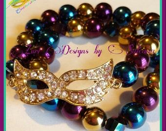 Mardi Gras/Carnivale bracelet set