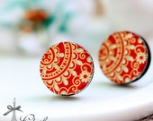 20% off -NEW Unique 3D Embossed  16mm Round Handmade Wood Cut Cabochon to make Rings, Earrings, Bobby pin,Necklaces, Bracelets-(WG-200)