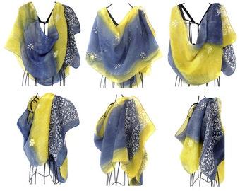 Unique bridesmaid gift idea. Gift for friend. Bridesmaid gift set of 3. Bridesmaid thank you gift. Indian silk scarf. Indian. KavitaKriti