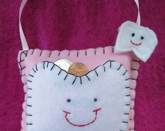 Tooth Fairy Pillow - Pastel Pink