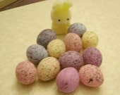 "20 speckled easter EGGS mini small tiny 7/8"" PASTEL colors"