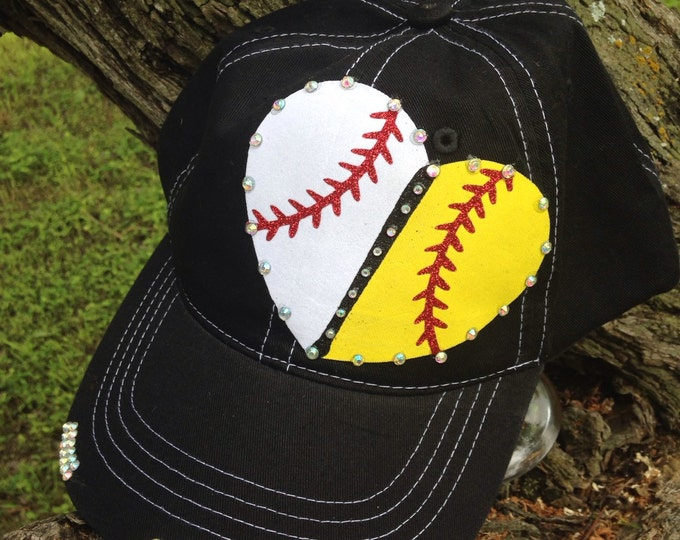 Baseball Softball Heart, Team Fan Gear, Sports Mom, House Divided Gear, Womens Baseball Cap