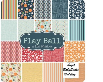 Sports Toddler Bedding,  Baby Boy, Crib Bedding Set,  Play Ball Riley Blake, Crib Bedding, Crib Skirt, Crib Sheet, Bumper Pads, Sheet, Case