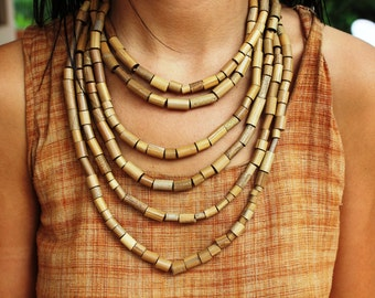 Tribal Bamboo Necklace