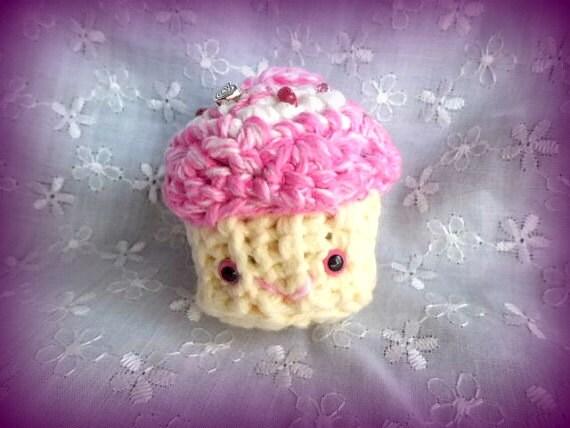 Cupcake Amigurumi Crocheted Cupcake Keychain Cupcake Cute
