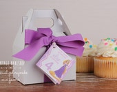 Rapunzel Birthday Party Favors -- Tangled Birthday Party Favors -- Cupcake Mix Favors -- Cupcake Favors -- Set of 6