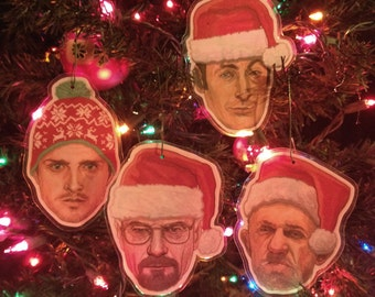Breaking Bad Christmas Ornaments 4 Pack COMBO