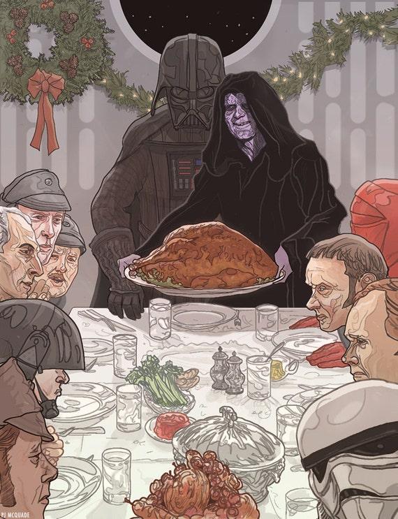 Star Wars Darth Vader Emperor Christmas Card