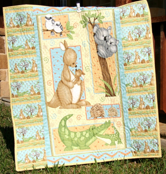 Gender Neutral Quilt Baby Blanket Mommy and by ...