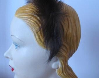 1940's Mink Fur Headband Hat