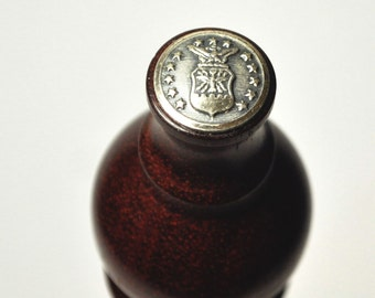 Air Force Uniform Button on Exotic Hardwood Bottle Stopper  -Free Shipping