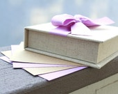 Baby or Wedding Wish Box. Shower Advice Box. Guest Book Alternative. Fabric Box. Shown in Warm Linen and Lavender.