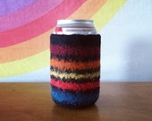 Felted Beer Cozy - The Best Friend Collection  - Black & Multicolor