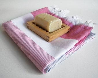 SALE 50% OFF Bathstyle Turkish BATH Towel Peshtemal - Gray - Pink - White - Beach, Spa, Swim, Pool Towels and Pareo