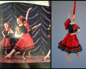 Spanish Ballerina Dancer Ornament from the Nutcracker CUSTOMIZED to your costume Hand Sculpted in clay
