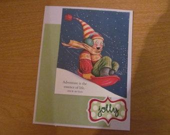 Jolly Adventure upcycled Mary Engelbreit birthday card