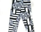 Sugar Skull Baby Boy Leggings- Black and White Baby Pants