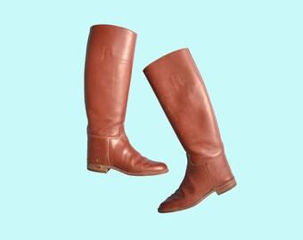 Marlborough English Riding Boots Size 5