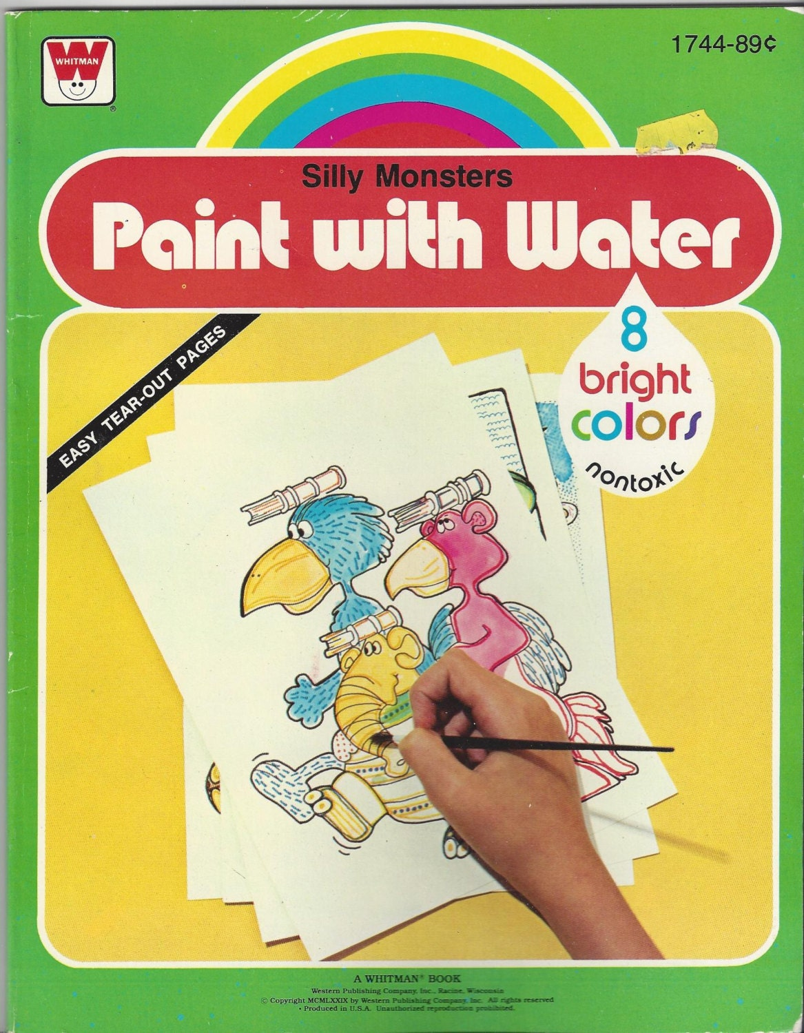 Paint With Water Clowns Book Copyright 1987