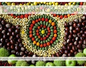 earth mandala calendar 2015, featuring the beautiful and inspiring work of Land Artist Keith Beaney