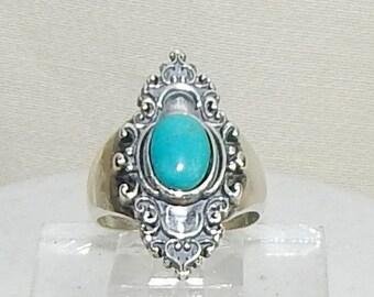 Turquoise Ring,Turquoise Fashion ring,Christmas Gift,Elegant turquoise ring,Cocktail ring, Turquoise Silver Ring,Sterling Turquoise ring,