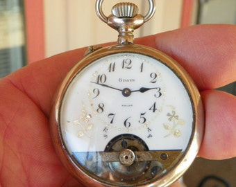 Antique 8-Day Pocket Watch
