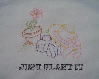 apron embroidered apron garden apron bib apron cotton apron flour sack apron floursack towel