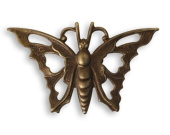 VINTAJ  Open Work Butterfly -1pc Natural Brass Jewelry Findings Craft Supplies Tools