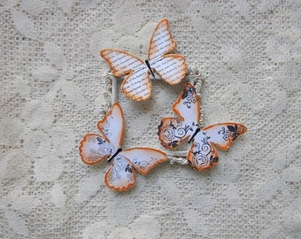 Butterflies for Scrapbooking, Card Making, Stamped and Inked,Wedding, Mixed Media, Altered Art, Tags