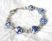 delft blue bracelet delft blue jewelry Delft blue bracelet blue and white delft bracelet blue and white bracelet
