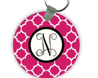 CLOVER  keychain with monogram