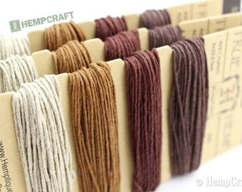Brown Craft Cord, 1mm High Quality Brown Hemp Twine Color Card