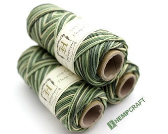 Hemp Twine, Camo - Camouflage High Quality 1mm Multicolored Hemp Cord