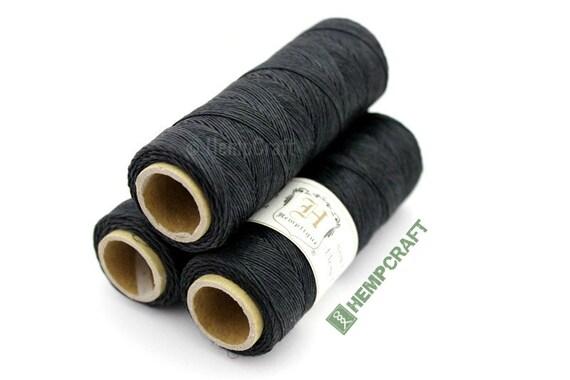 Thin Hemp Twine, Black - High Quality o.5mm 10lb Hemp Craft Cord