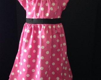 Disney Inspired Minnie Mouse Boutique Peasant Dress