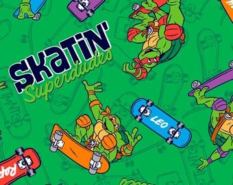 Teenage Mutant Ninja Turtles Super Dudes Cotton Fabric by Springs Creative, 1 yard